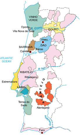 map of portugal. Map